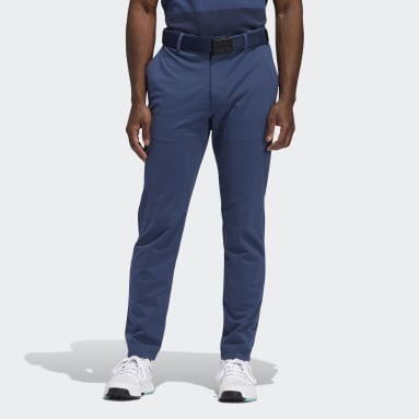 Men Golf Blue Warp knit Cargo Pants