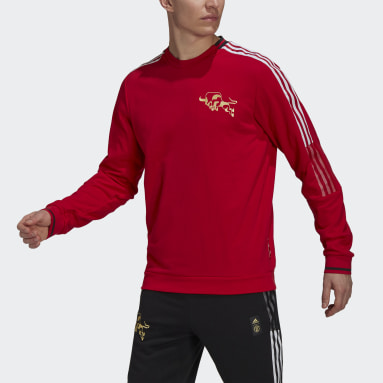 Sweat-shirt Manchester United CNY Rouge Hommes Football