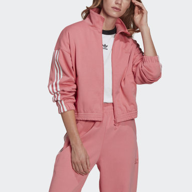 Women's Originals Pink Adicolor 3D Trefoil Track Jacket