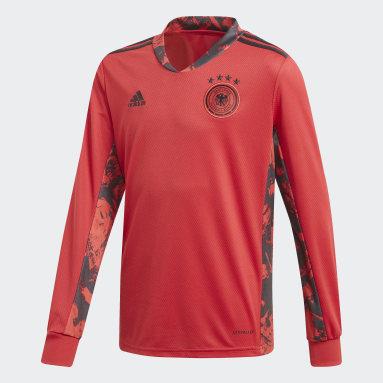 Boys Fodbold Rød Germany Goalkeeper hjemmebanetrøje