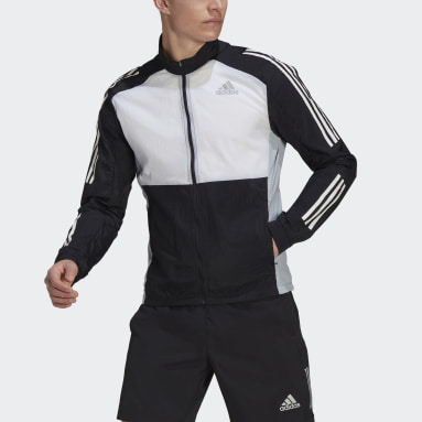 Men Running Black Track Top