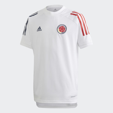 Youth Soccer White Colombia Training Jersey