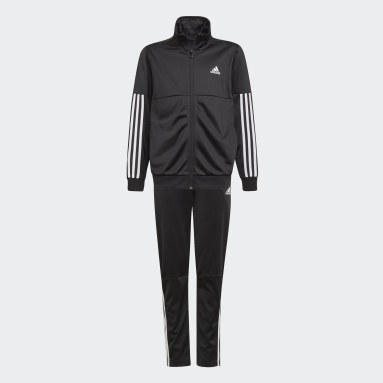 Youth Training Black 3-Stripes Team Track Suit