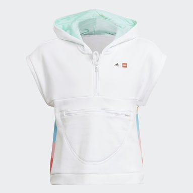 LEGO® Dots Short Sleeve Hoodie Bialy