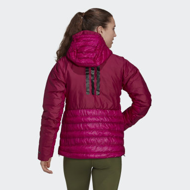 Women TERREX Burgundy Terrex MYSHELTER Down Hooded Jacket