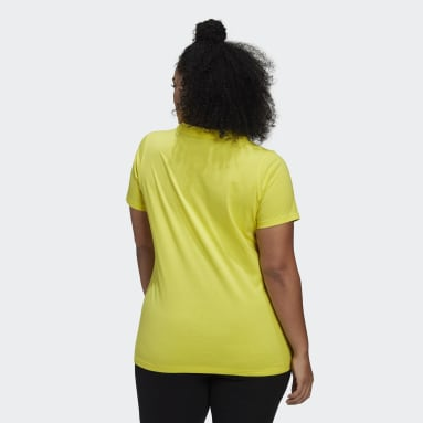 T-shirt Must Haves Badge of Sport (Taglie forti) Giallo Donna Sportswear