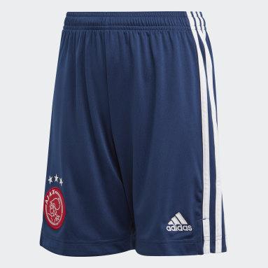 Calções Alternativos do Ajax Amsterdam Azul Criança Futebol