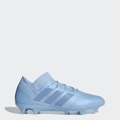Calzado de Fútbol Nemeziz Messi 18.1 Terreno Firme Azul Hombre Fútbol