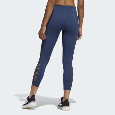 Women Gym & Training Blue Believe This 2.0 Lace-Up 7/8 Tights