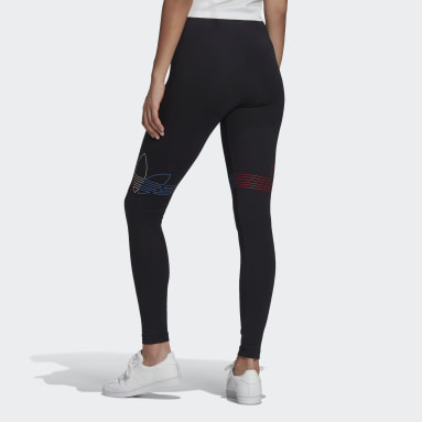 Women Originals Black LOUNGEWEAR Adicolor Tricolor Leggings