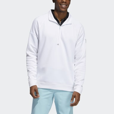 Sweat-shirt Equipment Quarter-Zip Blanc Hommes Golf