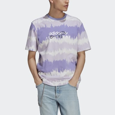 Men's Originals Purple adidas Adventure Archive Printed Tee