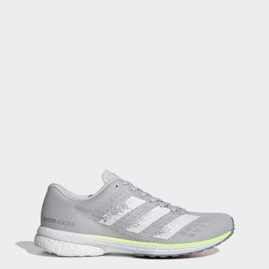 Women Running Grey Adizero Adios 5 Shoes