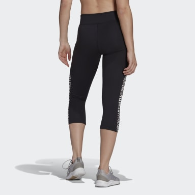 Women's Training Black adidas x Zoe Saldana AEROREADY 3/4 Tights