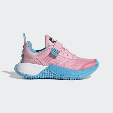 Children Running Pink adidas x Classic LEGO® Sport Shoes