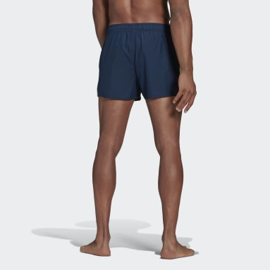 Men Swimming Blue Classic 3-Stripes Swim Shorts