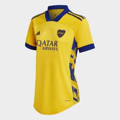 Tercera Camiseta Boca Juniors 20/21 Dorado Mujer Fútbol