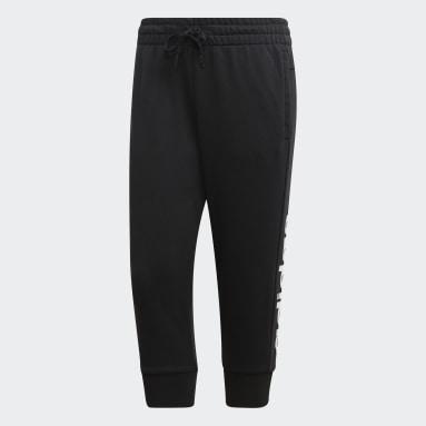 Dames Sportswear Zwart Essentials Linear Driekwartbroek