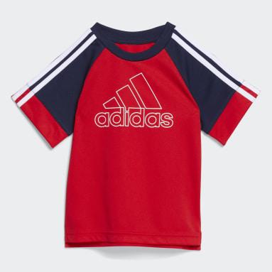 Infant & Toddler Training Red Goals Shorts Set