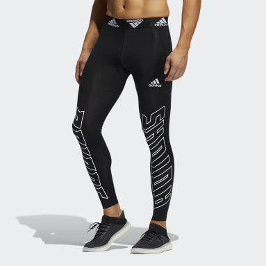 Men Yoga Black Soccer Hype Techfit Long Tights