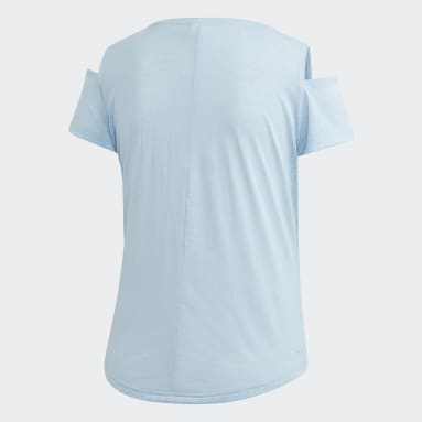 Women Gym & Training Blue Xpressive Cutout T-Shirt