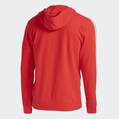 Blusa Moletom Capuz Internacional Vermelho Homem Futebol
