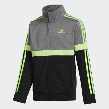 Youth Training Green Heathered Split Jacket