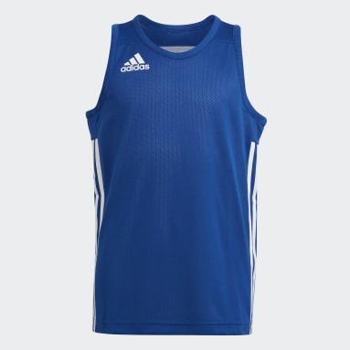 Kids Basketball Blue 3G Speed Reversible Jersey