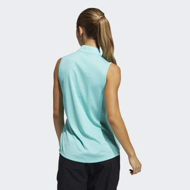 Women's Golf Green Equipment Primegreen Sleeveless Golf Polo Shirt