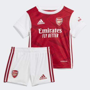 Deti Futbal Burgundy Súprava Arsenal Home Baby
