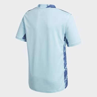 Kinderen Voetbal Blauw Real Madrid 20/21 Keepersshirt Thuis