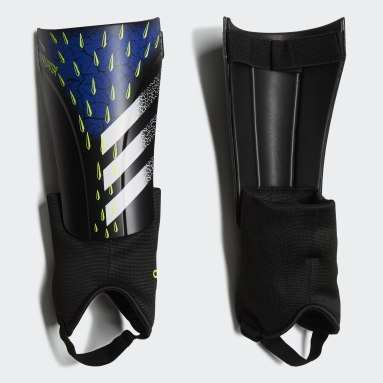 Football Black Predator Match Shin Guards