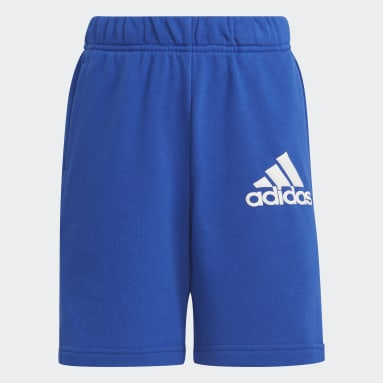 Youth 8-16 Years Gym & Training Blue Badge of Sport Shorts
