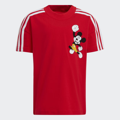 Børn Fitness Og Træning Rød Disney Mickey Mouse T-shirt