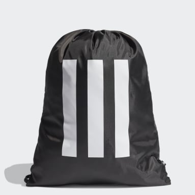 Cricket Black Essentials 3-Stripes Gym Sack