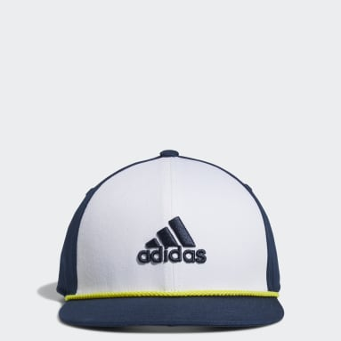 Boys Golf White Flat-Brim Hat