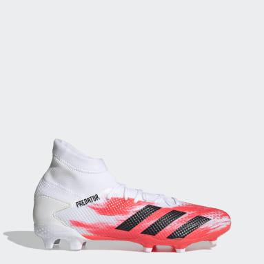 Men Football White Predator 20.3 Firm Ground Boots