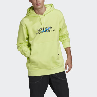 Men Originals Yellow adidas Adventure Big Logo Hoodie