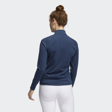 Women's Golf Blue Perforated Full-Zip Jacket