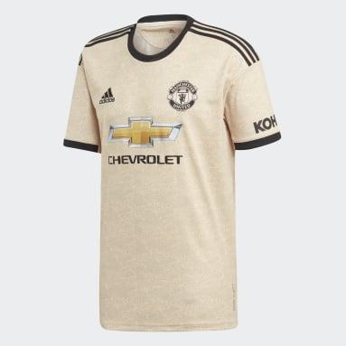 Heren Voetbal beige Manchester United Uitshirt