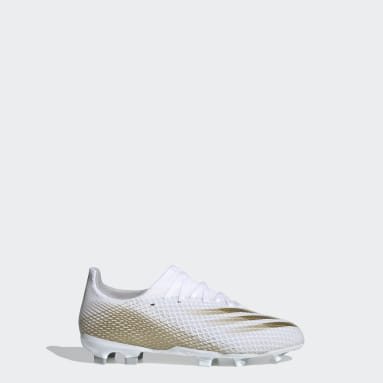 Chaussure X Ghosted.3 Terrain souple blanc Enfants Soccer
