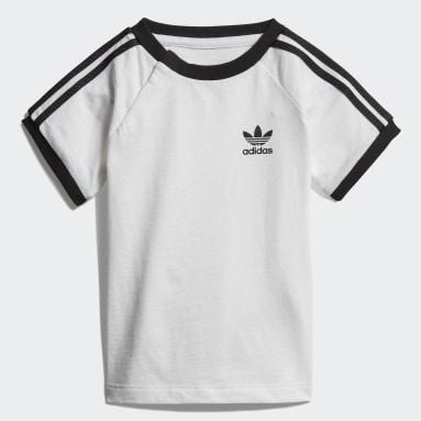 Jungen Originals 3-Streifen T-Shirt Weiß