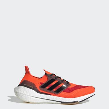 Tenis Ultraboost 21 Naranja Hombre Running