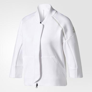 Chamarra adidas Z.N.E. Modern Bomber Blanco Mujer Sportswear