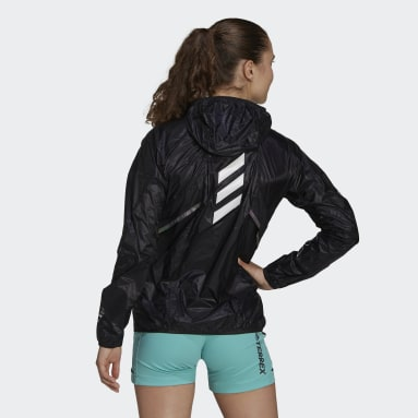 Women TERREX Black Terrex Agravic Pro WIND.RDY Windbreaker