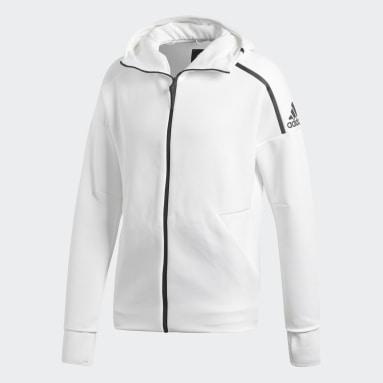 Männer Sportswear adidas Z.N.E. Fast Release Hoodie Weiß