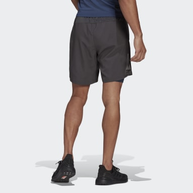Shorts Own the Run Dos-en-Uno Plomo Hombre Running