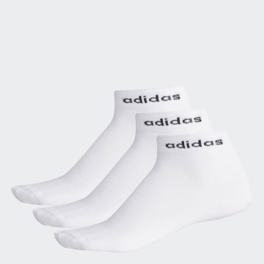 Meias Ankle 3 Pares (UNISSEX) Branco Training