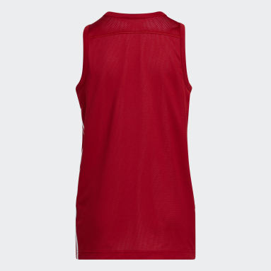 Kinderen Basketbal Rood 3G Speed Reversible Shirt