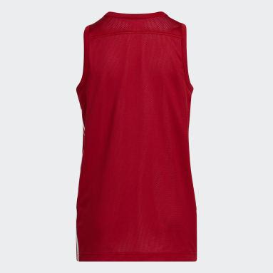 Børn Basketball Rød 3G Speed Reversible trøje